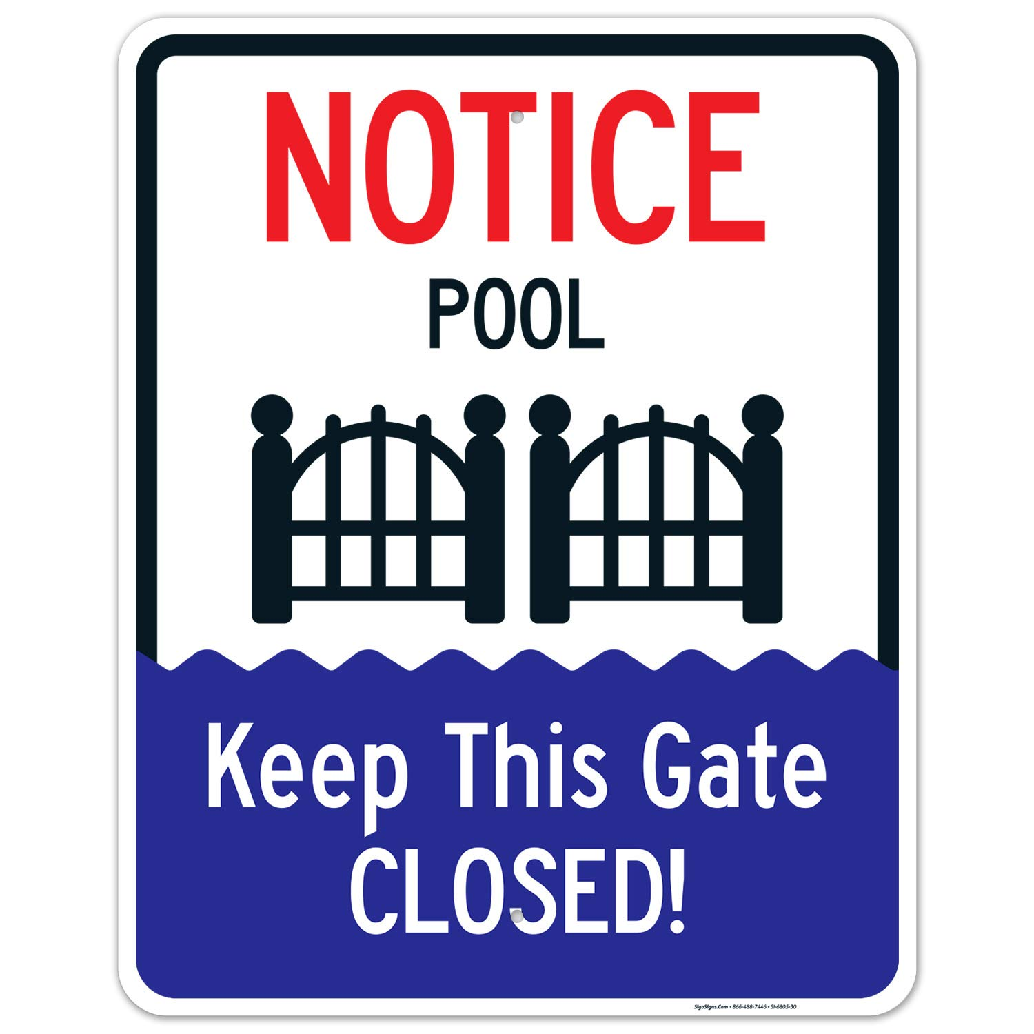 Keep This Gate Closed Sign Pool . Free Inches Large-scale sale 24x30 sold out Rust