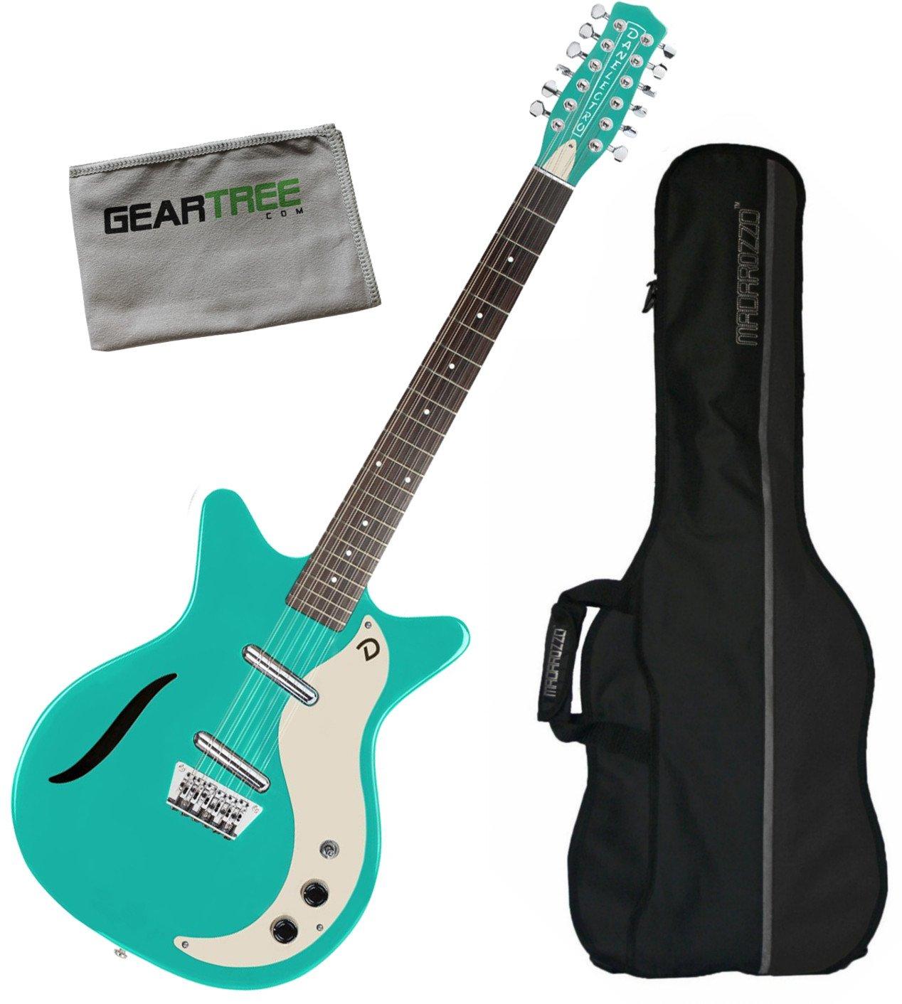 Cheap Danelectro 59 Vintage 12 String Electric Guitar Dark Aqua w/Gig Bag and Geartree Cloth Black Friday & Cyber Monday 2019