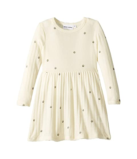 mini rodini Peace Pointelle Wool Dress (Infant/Toddler/Little Kids/Big Kids)