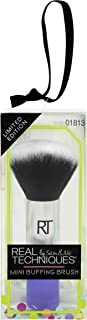 Real Techniques Mini Buffing Brush Ornament Brush for Application of Mineral & Powder Foundation, Ideal For Holiday Gifts