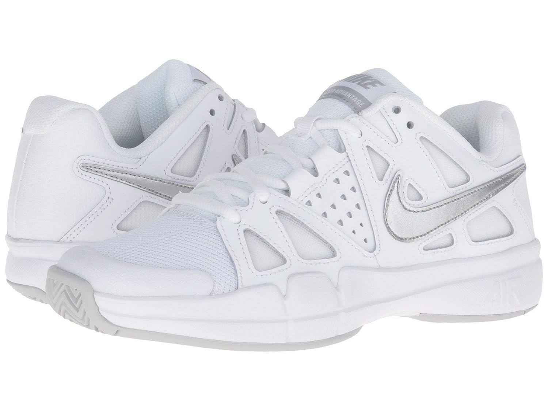 (ナイキ) NIKE レディーステニスシューズ?スニーカー?靴 Air Vapor Advantage White/Medium Grey/Metallic Silver 9 (26cm) B - Medium