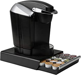 Mind Reader Coffee Pod Storage Drawer for K-Cups, Verismo, Dolce Gusto, Holds 30 K-Cups, 35 CBTL, Verismo, Dolce Gusto, Black