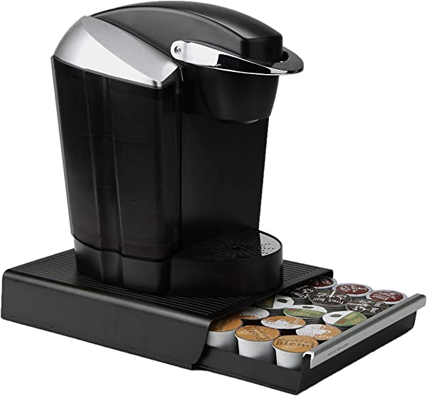 Mind Reader Coffee Pod Storage Drawer For K Cups Verismo Dolce Gusto Holds 30 K Cups 35 CBTL Verismo Dolce Gusto Black