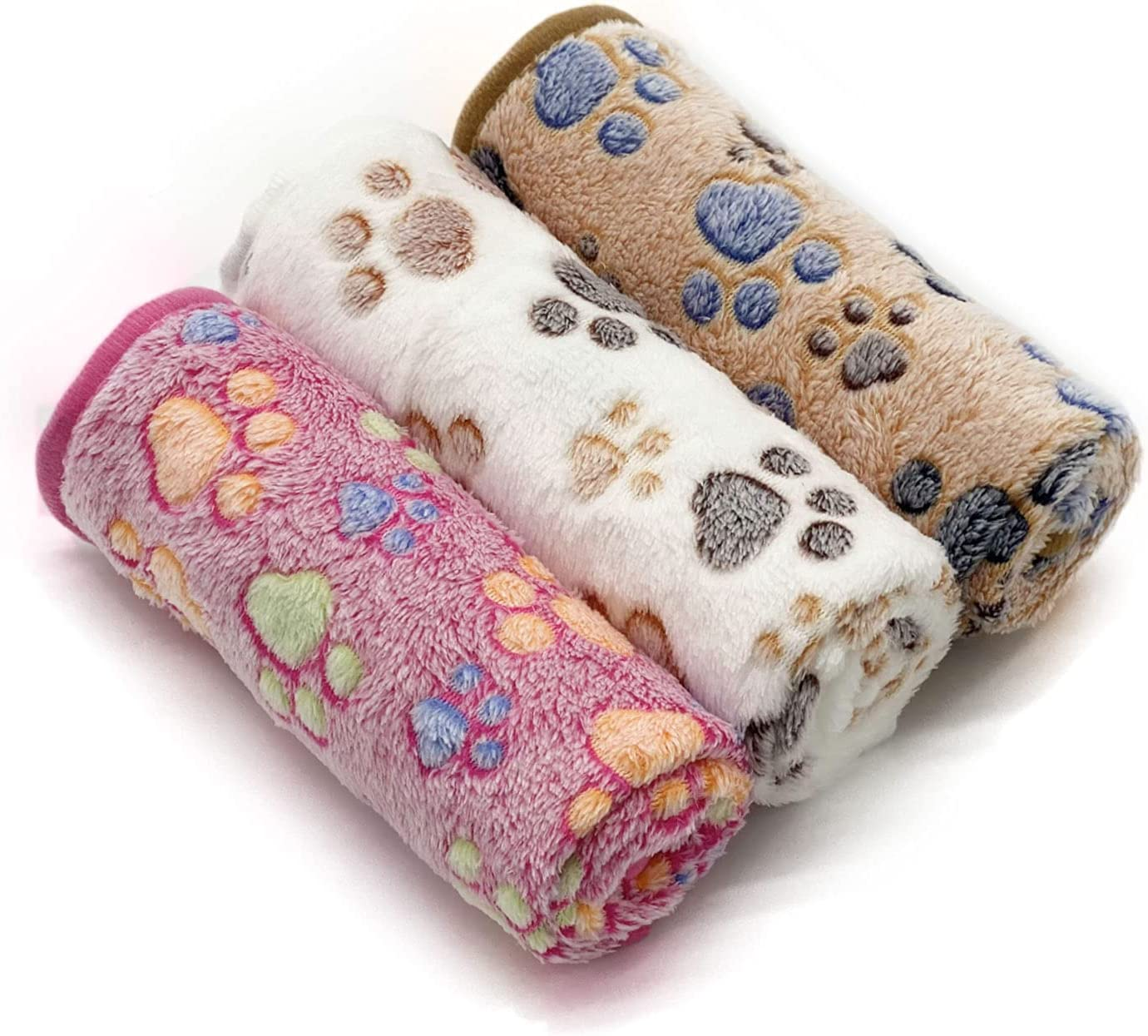 1 Pack 3 It is very popular Puppy Dog Blankets Super Warm Soft Fluffy Mat Sleep Pre Limited price