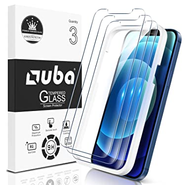 [3 Pack] OUBA Screen Protector Compatible with iPhone 12 Pro Max 5G (6.7 inch) Tempered Glass, [Case Friendly] 9H Hardness [Alignment Frame Easy Installation] High Definition Bubble Free