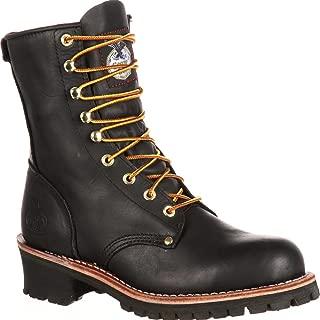black logger boots