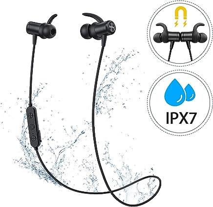Mpow Auricolari Bluetooth 5.0 Sport, [Versione Nuova] S11 Cuffie Bluetooth con aptX e IPX7 Impermeabile, Auricolari Magnetici con Suono Stereo HD per 9 Ore di Uso, CVC6.0 Riduzione del Rumore, Nero
