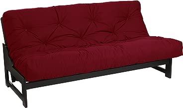 Mozaic Full Size 8-inch Cotton Twill Gel Memory Foam Futon Mattress, Red