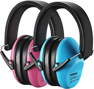 Mpow Kids Ear Protection 2 Pack, NRR 25dB Noise Reduction, Hearing Protection for Kids, Toddler Ear Protection for Hunting Season, Shooting Range, Car Race, Traveling, with Carrying Bags-Blue&Pink