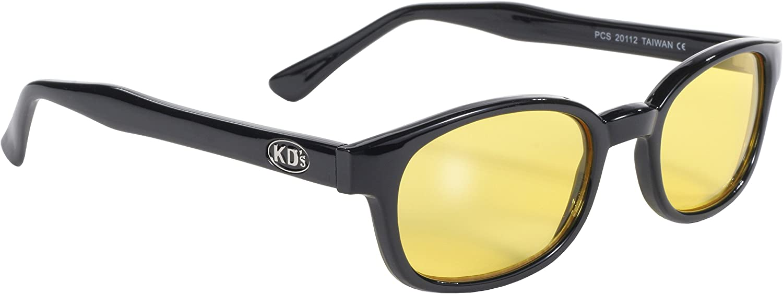 Pacific Coast Original Super-cheap KD's Biker Black Yellow Frame In stock Sunglasses