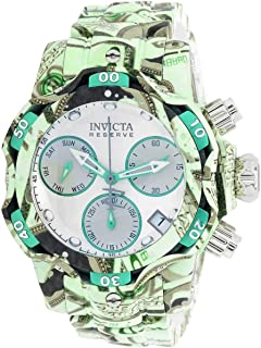 Invicta Women's Reserve Venom Quartz Diving Watch with Stainless Steel Strap, Silver, Aqua Plating, 20 (Model: 34652)