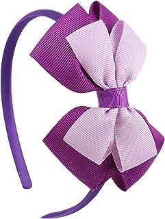 Layered Hairbands Solid Grosgrain Ribbon Bows Headband Handmade Boutique Hairhoop Hair Accessories Women Girls