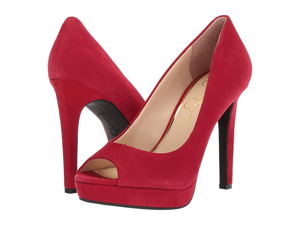 Jessica Simpson Dalyn (Maraschino Lux Kid Suede) High Heels