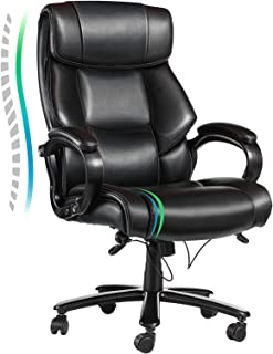 VANSPACE Big and Tall Executive Office Chair 400lb High Back Ergonomic Desk Chair Bonded Leather Chair - Heavy Duty Metal ...