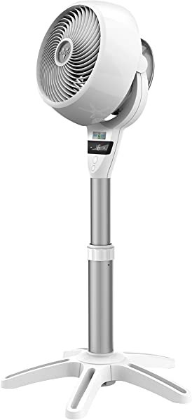 Vornado 6803DC Energy Smart Medium Pedestal Air Circulator Fan With Variable Speed Control