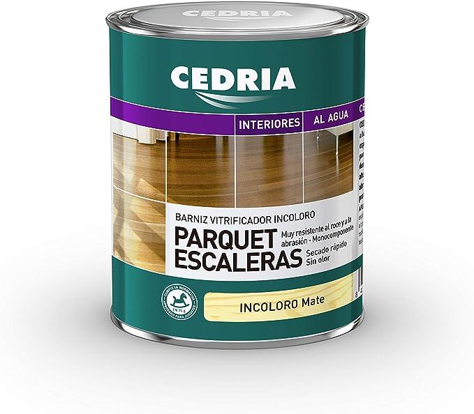 Barniz Parquet Escaleras Cedria Incoloro Mate (750 ml) AL AGUA
