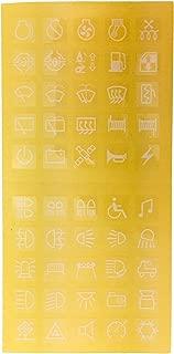 IZTOR 50PCS car truck caravan Dash Board Instrument Panel Decal Sticker Labels