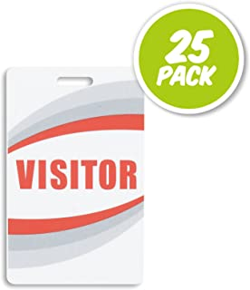 visitor badges and lanyards