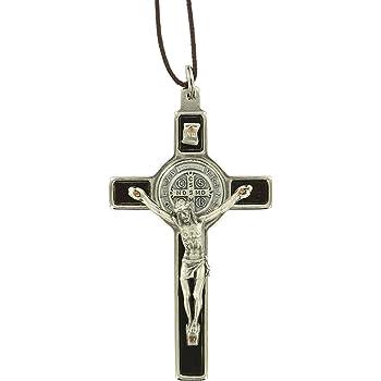Croce di San Benedetto in legno dulivo H7 centimetri Mod.2