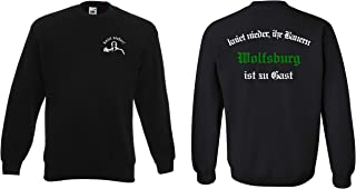world-of-shirt / Wolfsburg Herren Sweatshirt kniet nieder Ihr Bauern