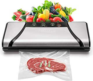 Vacuum Sealer, 4-in-1 Automatic Food Saver with Cutter, Stainless Stee Vacuum Packing Machine for Dry&Moist Food,(TVS-2019)
