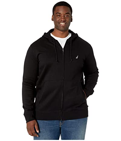 Nautica Big & Tall Big Tall Specialty Hoodie (True Black) Men