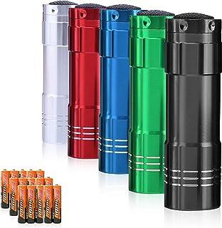Sponsored Ad - Super Bright Flashlight, 1w Mini Aluminum Flashlights Set with Lanyard and 15 x AAA Batteries for Night Rea...