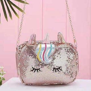 KITTYKIT Glittery Unicorn Bag for Girls Makeup Pouch Storage/Organizer Traveler Bag Unicorn Sling Bags / Unicorn Bags for ...