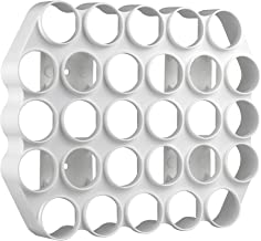 Storage Theory | Peel and Stick Cafe Wall Caddy | 28 Capacity Single Serve Coffee or Tea Pod Wall Display | White Color