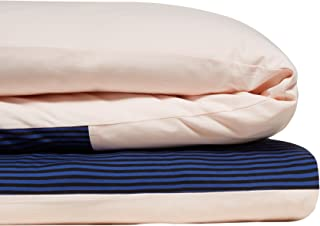 Calvin Klein Home Modern Cotton Samuel Duvet Cover, King, Pink/Cobalt/Black