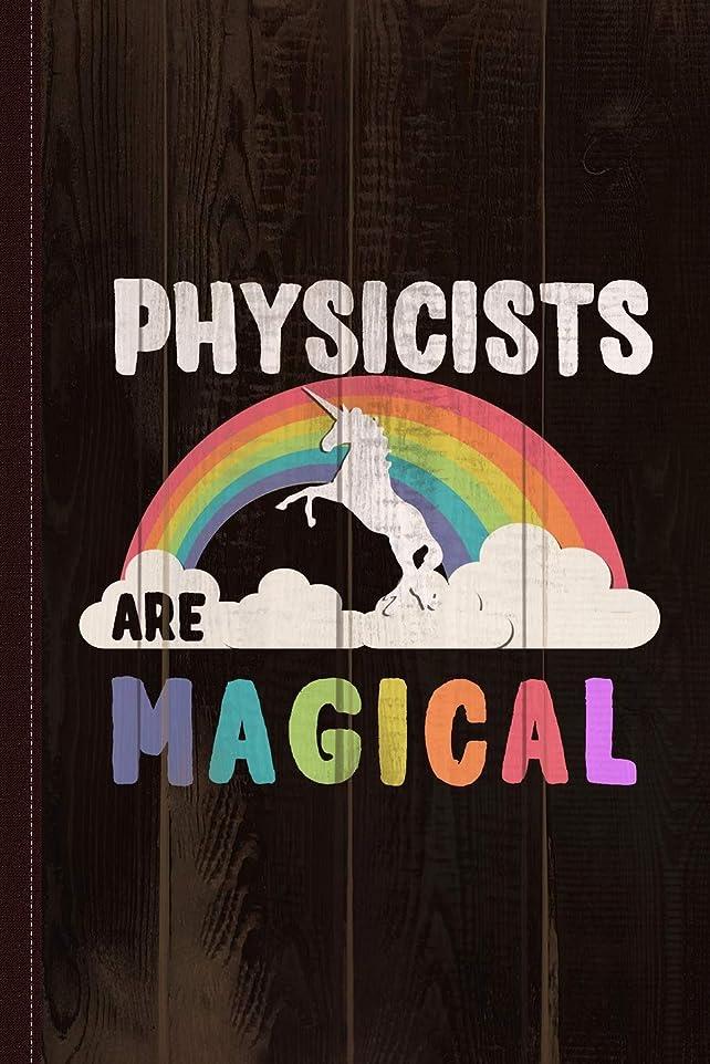 ディスクこれまで円周Physicists Are Magical Journal Notebook: Blank Lined Ruled For Writing 6x9 110 Pages