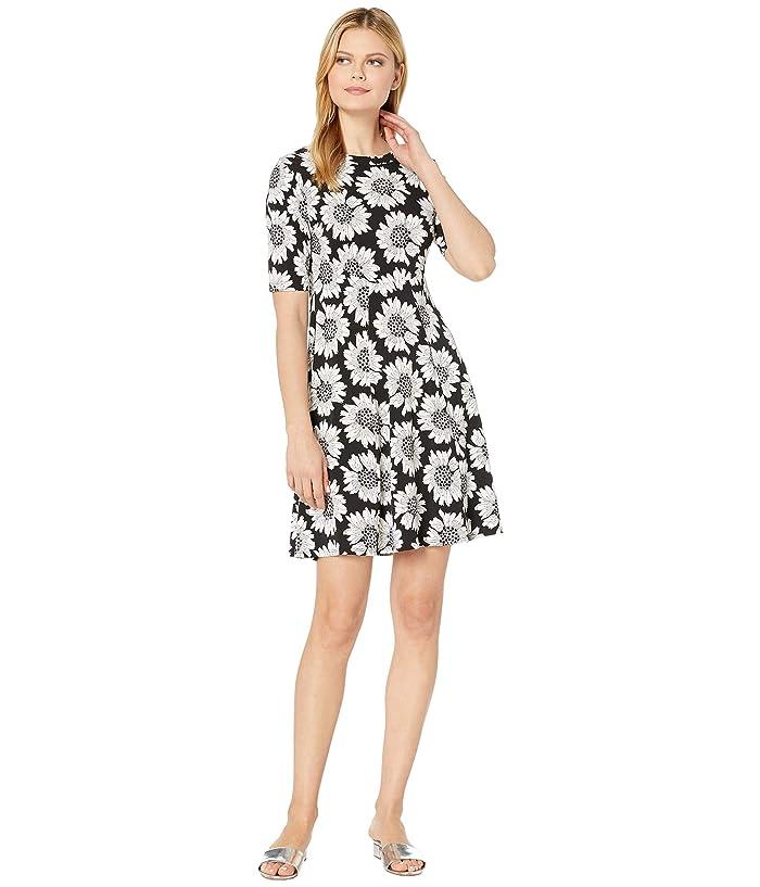 60s Dresses | 1960s Dresses Mod, Mini, Hippie Karen Kane Daisy Print A-Line Dress BlackWhite Womens Clothing $69.99 AT vintagedancer.com