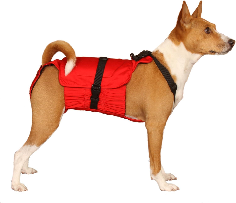 Dog Diaper Wrap MEDIUM RED