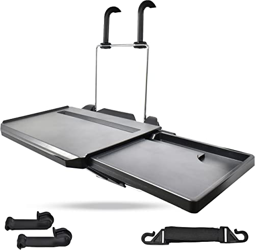 lowest EcoNour 2 online in 1 Car Tray Table for Car   Ergonomic Car Desk Passenger Seat with Retractable Tray online sale Plate   Car Back Seat Dining Tray for Eating   Multipurpose Car Steering Wheel Desk Tray Table outlet online sale