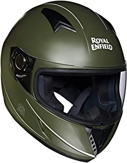 Royal Enfield Battle Green Full Face Helmet Size (XL)62 CM  (RRGHEI000046)