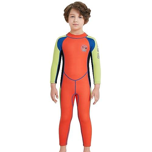 10f700da9a384 DIVE SAIL Boys Long Sleeve Swimsuits UV 50+ Sun Protection Rash Guard One  Piece Swimming Costume