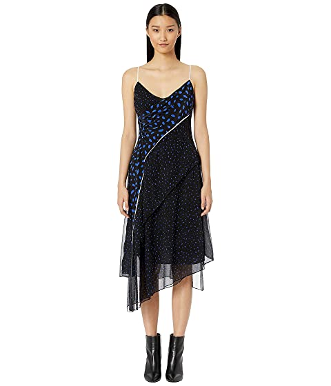GREY Jason Wu Large Brushstrokes Bias Layered Dress