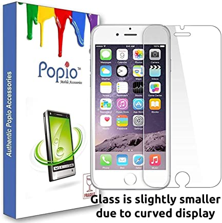 POPIO Tempered Glass for Apple iPhone 6 / iPhone 6S / iPhone 7 / iPhone 8 (Transparent)-Full Screen Coverage (Except Edges) with easy installation kit