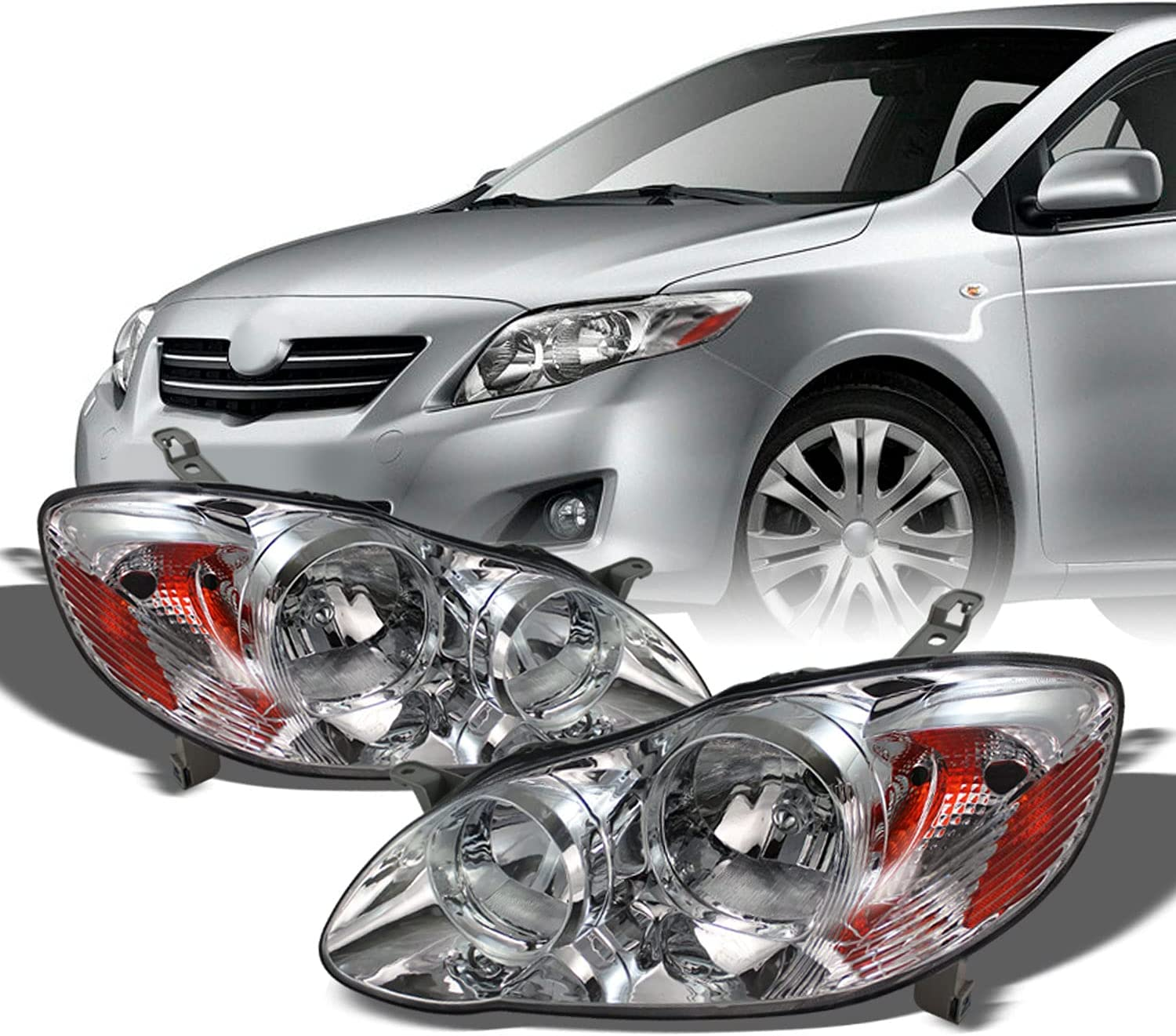 For 03-08 Toyota Corolla Headlights Daily bargain sale Repl Direct Lamps Front Head Max 58% OFF