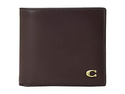COACH Double Billfold in Signature Hardware (Red) Bill-fold Wallet