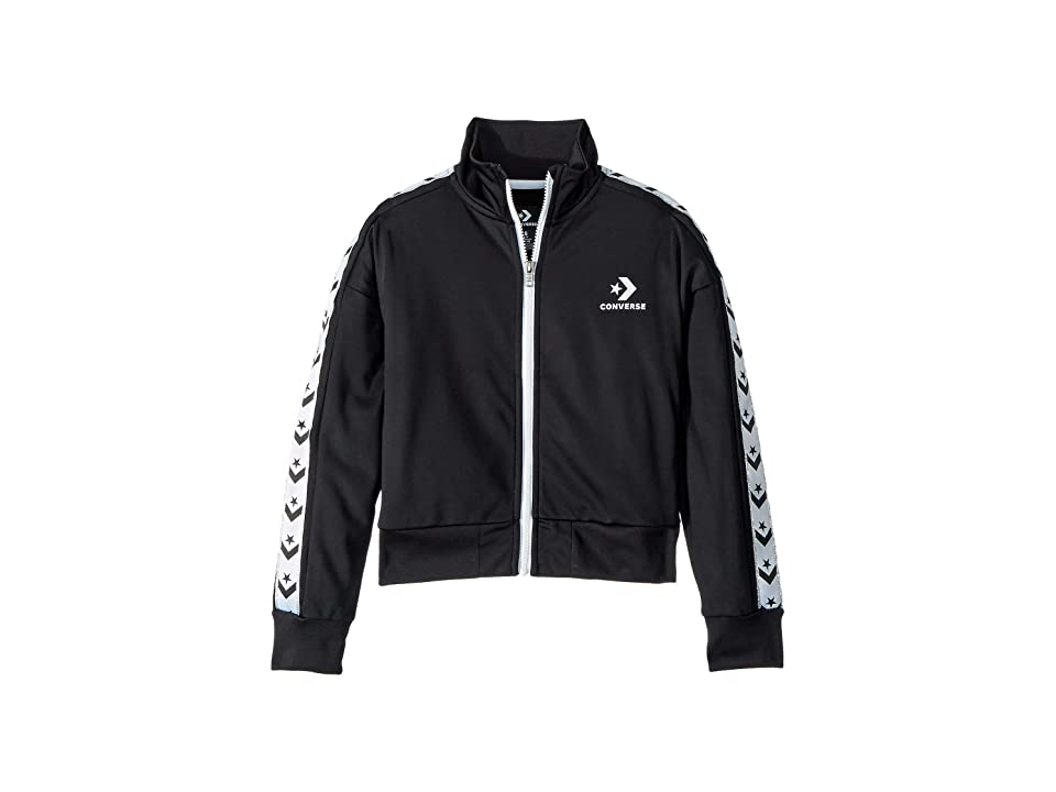 Converse Kids Star Chevron Track Jacket (Big Kids) (Black) Girl