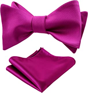 Mens Classic Bowtie Pre-tied Tuxedo Adjustable Pure Bow tie by Yakee Lemon