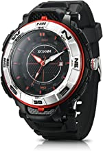 IXHIM Men's Sport Watch Quartz #A2800 Analog Time Display Casual Outdoor Watch - 100m 330 ft Water Resistant - Black PU Band