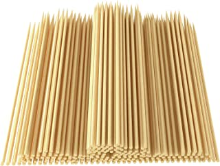 CandyHome Natural Bamboo Skewers Sticks for Shish Kabob, BBQ, Appetizer, Vegetables, Cheese, Fruit, Corn and More Food, 6 inch 200 Pcs
