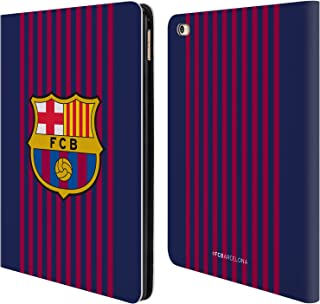 Official FC Barcelona Home 2018/19 Crest Kit Leather Book Wallet Case Cover Compatible for iPad Air 2 (2014)