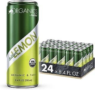 Organics by Red Bull Bitter Lemon 24 Pack of 8.4 Fl Oz, Organic Soda Drink