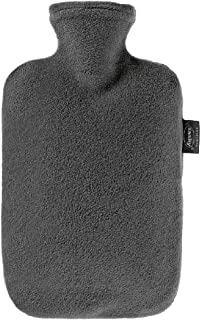 Fashy Hot Water Bottle with Fleece Cover (Anthracite)
