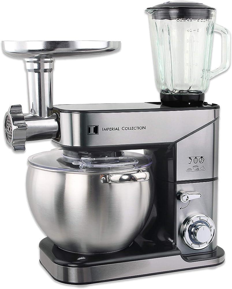 Imperial collection, robot da cucina, impastatrice ad uso intensivo, frullatore, trituratore e sbattitore IM-KM2500-3