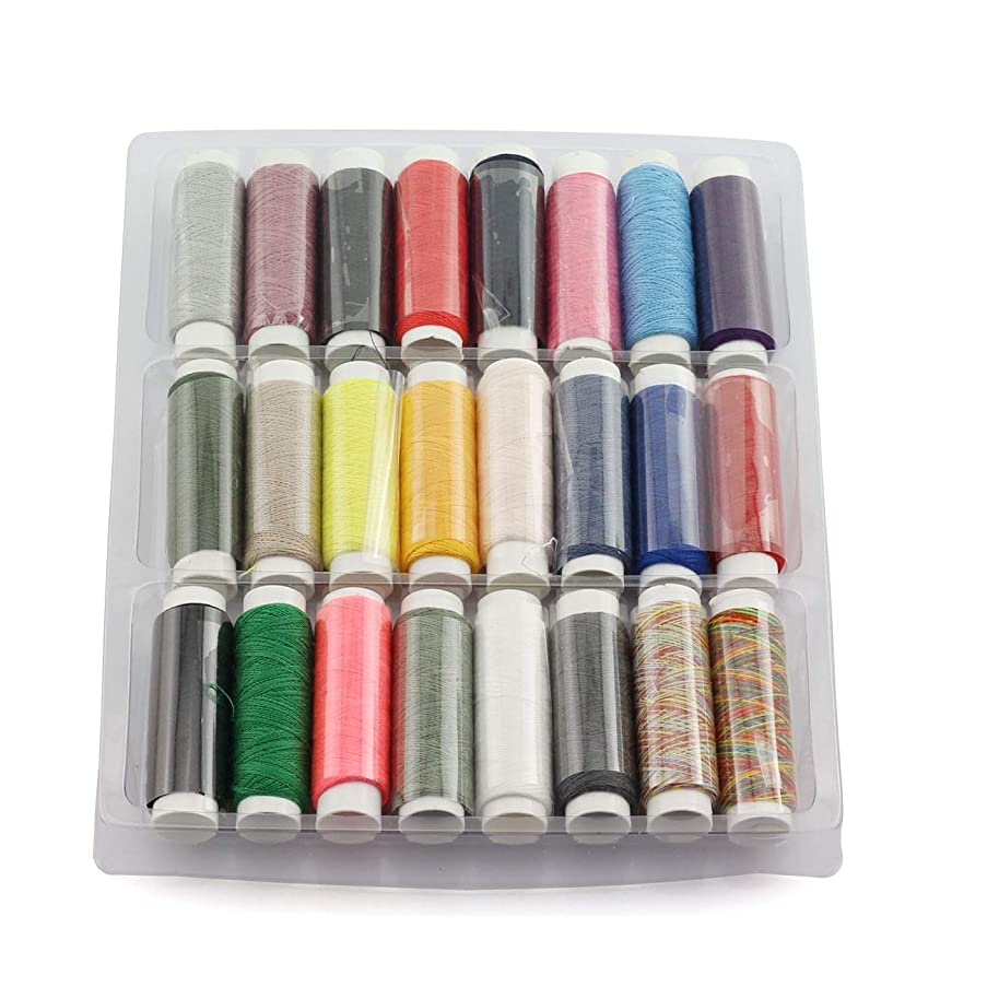 PZRT 24 Colors 402 Sewing Thread Household Sewing Accessories DIY Tools Durable Sewing Threads for Hand Machines Stitching