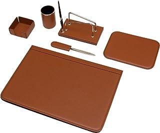 Maruse Parure de bureau en cuir 100% Made in Italy